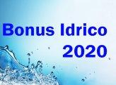 Bonus idrico annualità 2020